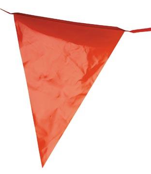 Vlaggenlijn plastic, 10 meter, oranje