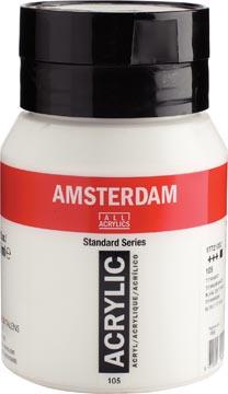 Amsterdam acrylinkt, flesje van 500 ml, titaanwit