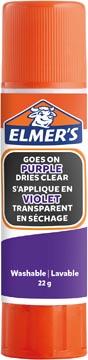 Elmer's verdwijnende lijmstick van 22 g, op blister, paars
