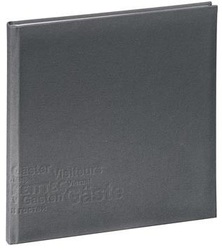 Pagna gastenboek Europe grijs