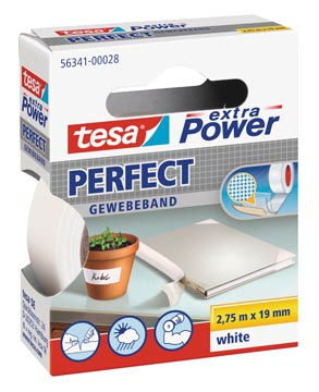 Tesa extra Power Perfect, ft 19 mm x 2,75 m, wit