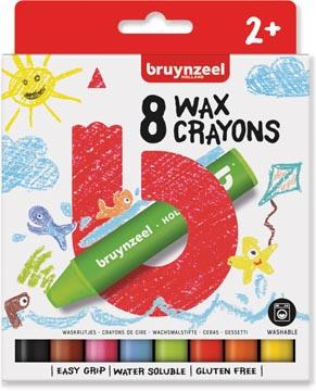 Bruynzeel Kids waskrijt, set van 8 stuks in geassorteerde kleuren