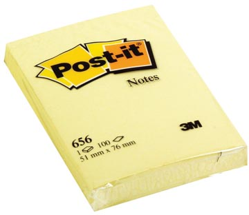 Post-it Notes, ft 51 x 76 mm, geel, blok van 100 vel