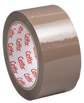 Celfix verpakkingsplakband ft 50 mm x 66 m, PP, bruin