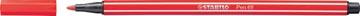 STABILO Pen 68 viltstift, karmijnrood