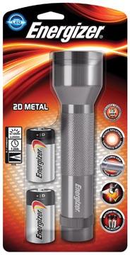 Energizer zaklamp Metal LED 2D, inclusief 2 D batterijen, op blister