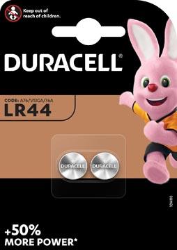 Duracell knoopcel Electronics LR44, blister van 2 stuks