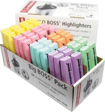 STABILO BOSS ORIGINAL Pastel markeerstift, pak van 48 stuks in geassorteerde kleuren