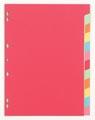 Pergamy tabbladen ft A4, 11-gaatsperforatie, extra sterk karton, geassorteerde kleuren, 12 tabs
